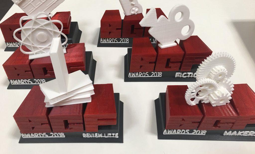 Trophées 2018, imprimés en 3D par Dagoma